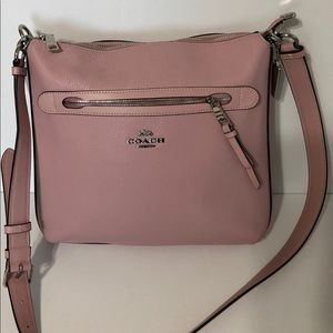 Authentic Coach Pink Pebble Leather MAE Purse NWT